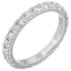 Peter Suchy 1.13 Carat Diamond Platinum Eternity Band Ring