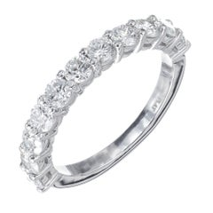 Peter Suchy 1.18 Carat 10 Diamond Platinum Wedding Band Ring