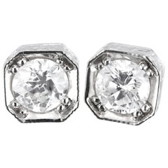 Peter Suchy 1.22 Carat Diamond Antique Inspired Gold Stud Earrings