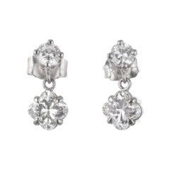 Peter Suchy 1.27 Carat Diamond Platinum Dangle Earrings