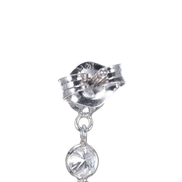 Women's Peter Suchy 1.50 Carat Diamond Gold Dangle Drop Earrings For Sale