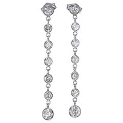 Peter Suchy 1.50 Carat Diamond Gold Dangle Drop Earrings