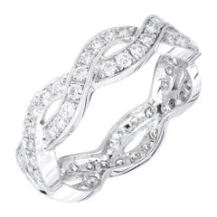 Peter Suchy 1.50 Carat Diamond Platinum Eternity Band Ring