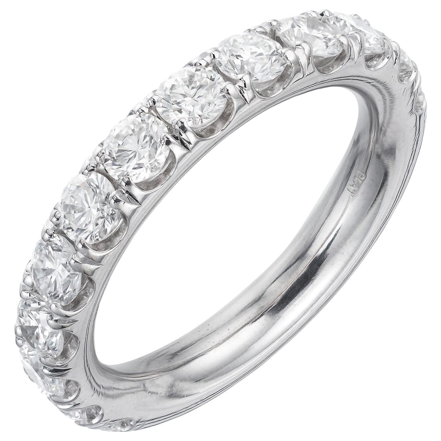 Peter Suchy 1.50 Carat Round Diamond Wedding Band Ring