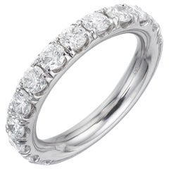 Peter Suchy 1.50 Carat Round Diamond Wedding Band Ring