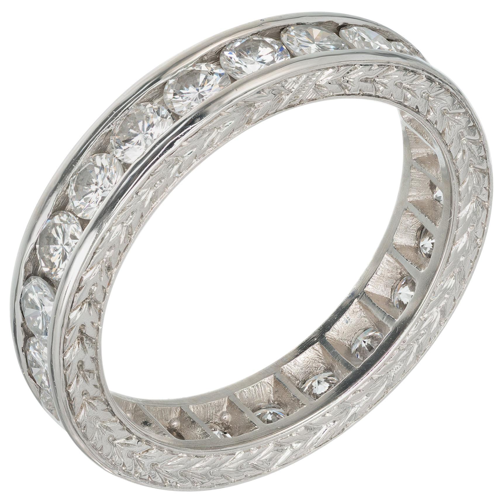 Peter Suchy 1.55 Carat Diamond Platinum Eternity Wedding Band Ring