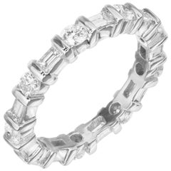 Peter Suchy 1.59 Carat Diamond White Gold Eternity Wedding Band Ring