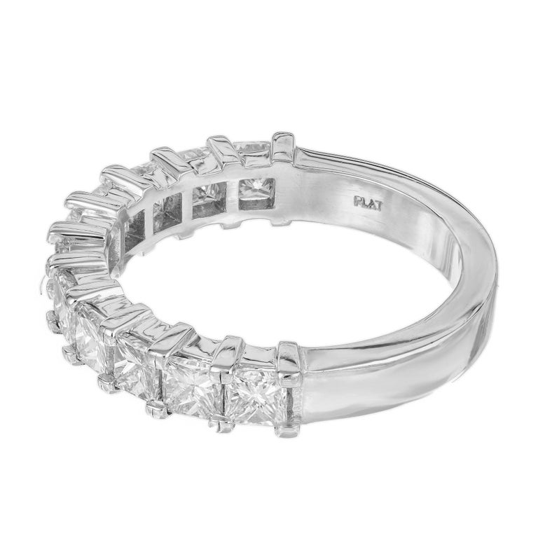 Peter Suchy 1.75 Carat Princess Cut Diamond Platinum Wedding Band Ring In Excellent Condition For Sale In Stamford, CT