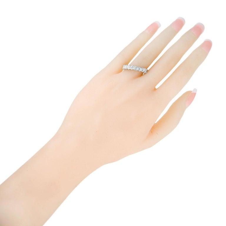 Peter Suchy 1.75 Carat Princess Cut Diamond Platinum Wedding Band Ring For Sale 2