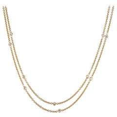 Peter Suchy 1.80 Carat Diamond by the Yard Yellow Gold Necklace