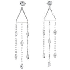 Peter Suchy 1.85 Carat Diamond by the Yard Gold Chandelier Dangle Earrings