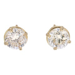 Peter Suchy 1.96 Carat Diamond Yellow Gold Stud Earrings
