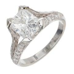 Peter Suchy 2.00 Carat Radiant Cut Diamond Platinum Engagement Ring
