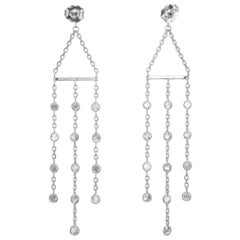 Peter Suchy 2.05 Carat Diamond Gold Dangle Chandelier Earrings