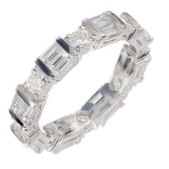 Peter Suchy 2.11 Carat Diamond Platinum Eternity Band