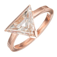 Peter Suchy 2.12 Carat Diamond Rose Gold Modern Triangle Engagement Ring
