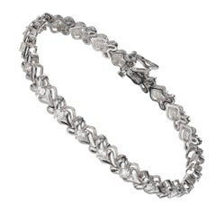 Peter Suchy 2.65 Carat Diamond Chevron White Gold Link Bracelet