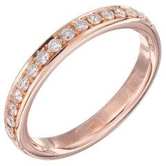 Peter Suchy .30 Carat Diamond Rose Gold Eternity Band Ring