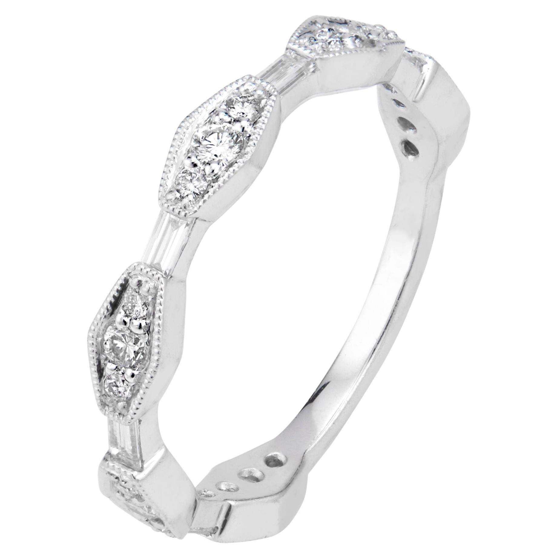 Peter Suchy .33 Carat Diamond Platinum Wedding Band Ring