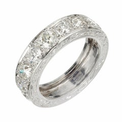 Peter Suchy 3.80 Carat Diamond Platinum Wedding Band Ring