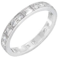 Peter Suchy .40 Carat Diamond Platinum Wedding Band Ring