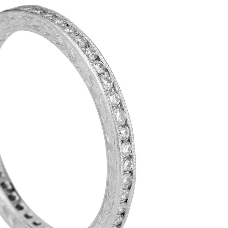 Women's Peter Suchy .45 Carat Diamond Platinum Eternity Wedding Band Ring  For Sale