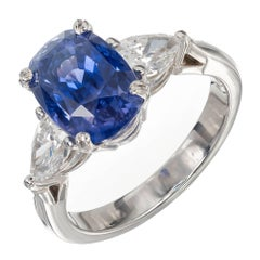 Peter Suchy 4.73 Carat Sapphire Diamond Color Change Platinum Engagement Ring