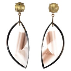 Peter Suchy 4.91 Carat Quartz Yellow gold Dangle Earrings