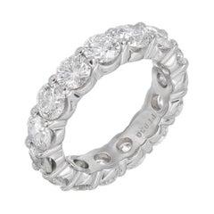 Peter Suchy 4.95 Carat Diamond Platinum Eternity Wedding Band Ring