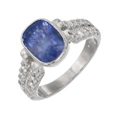 Peter Suchy 5.24 Carat Ceylon Sapphire Diamond Platinum Engagement Ring