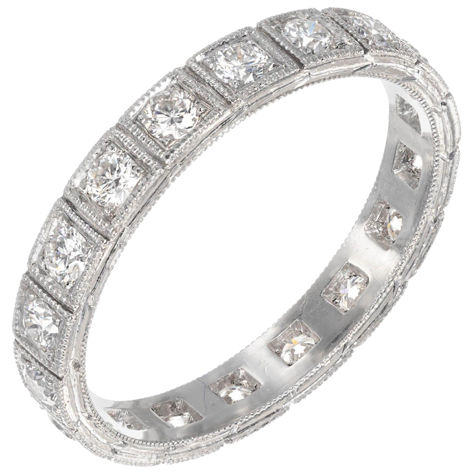 Peter Suchy .54 Carat Diamond Platinum Eternity Wedding Band Ring