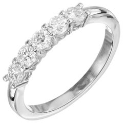 Peter Suchy .54 Carat Diamond Platinum Wedding Band Ring