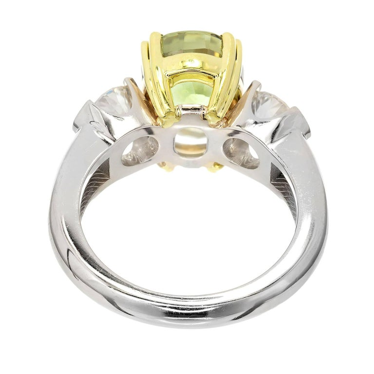 Peter Suchy 5.40 Carat Natural Alexandrite Diamond Platinum Gold Engagement Ring In Excellent Condition For Sale In Stamford, CT