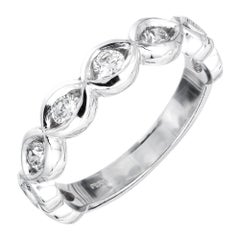 Peter Suchy .56 Carat Diamond Platinum Infinity Wedding Band