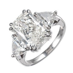 Peter Suchy 6.48 Carat Diamond Platinum Three-Stone Engagement Ring