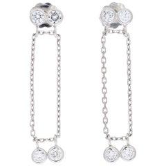 Peter Suchy .65 Carat Diamond White Gold Dangle Drop Earrings