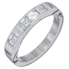 Peter Suchy .70 Carat Diamond Platinum Wedding Band Ring