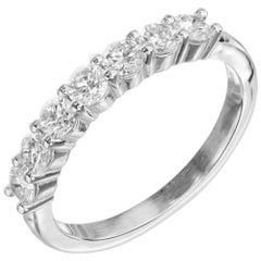 Peter Suchy .74 Carat Diamond Platinum Wedding Band Ring
