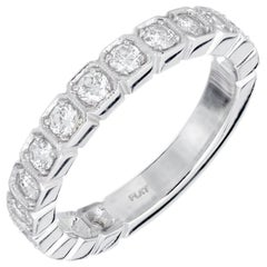 Peter Suchy .75 Carat 15 Diamond Platinum Wedding Band Ring
