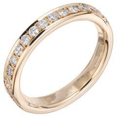 Peter Suchy .75 Carat Diamond Yellow Gold Eternity Wedding Band Ring
