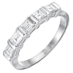 Peter Suchy .76 Carat 5 Diamond Platinum Wedding Band Ring
