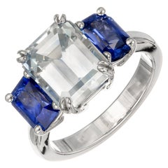 Peter Suchy 8.15 Carat Sapphire Three-Stone Platinum Engagement Ring