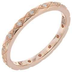 Peter Suchy .9 Carat Diamond Rose Gold Eternity Wedding Band Ring