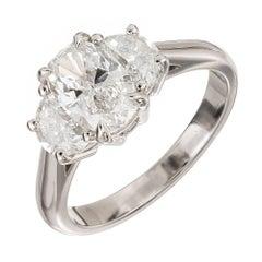 GIA Certified Peter Suchy 1.90 Carat Diamond Platinum Engagement Ring