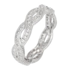 Peter Suchy Diamond Infinity Style Eternity Platinum Band Ring
