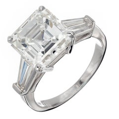 Peter Suchy 4.41 Carat Diamond Three-Stone Platinum Engagement Ring