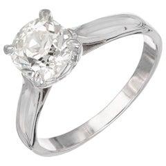 Peter Suchy EGL Certified 1.35 Carat Diamond Platinum Solitaire Engagement Ring