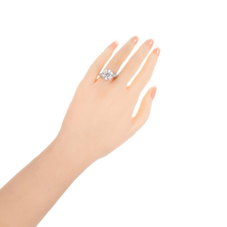 Peter Suchy EGL Certified 4.87 Carat Diamond Platinum Engagement Ring For Sale 2