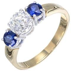 Peter Suchy EGL Certified .81 Carat Diamond Sapphire Platinum Engagement Ring