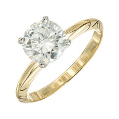 Peter Suchy GIA 1.51 Carat Diamond Yellow Gold Solitaire Engagement Ring